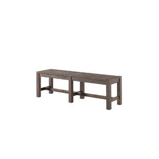 Benat Wood Bench by Gracie Oaks