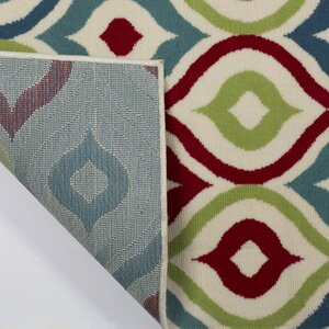 Lucia Red/Blue/Green Indoor/Outdoor Area Rug