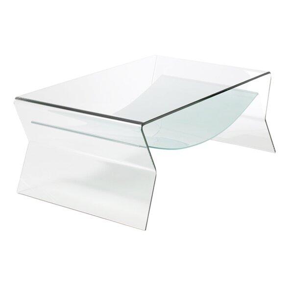 Attractive Bent Glass Coffee Table | Wayfair