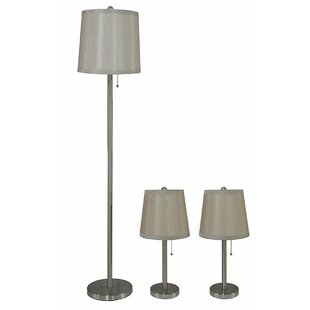 Lamont 3 Piece Table and Floor Lamp Set