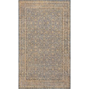 One-of-a-Kind Antique Kerman Handwoven Wool Beige Indoor Area Rug by Mansour