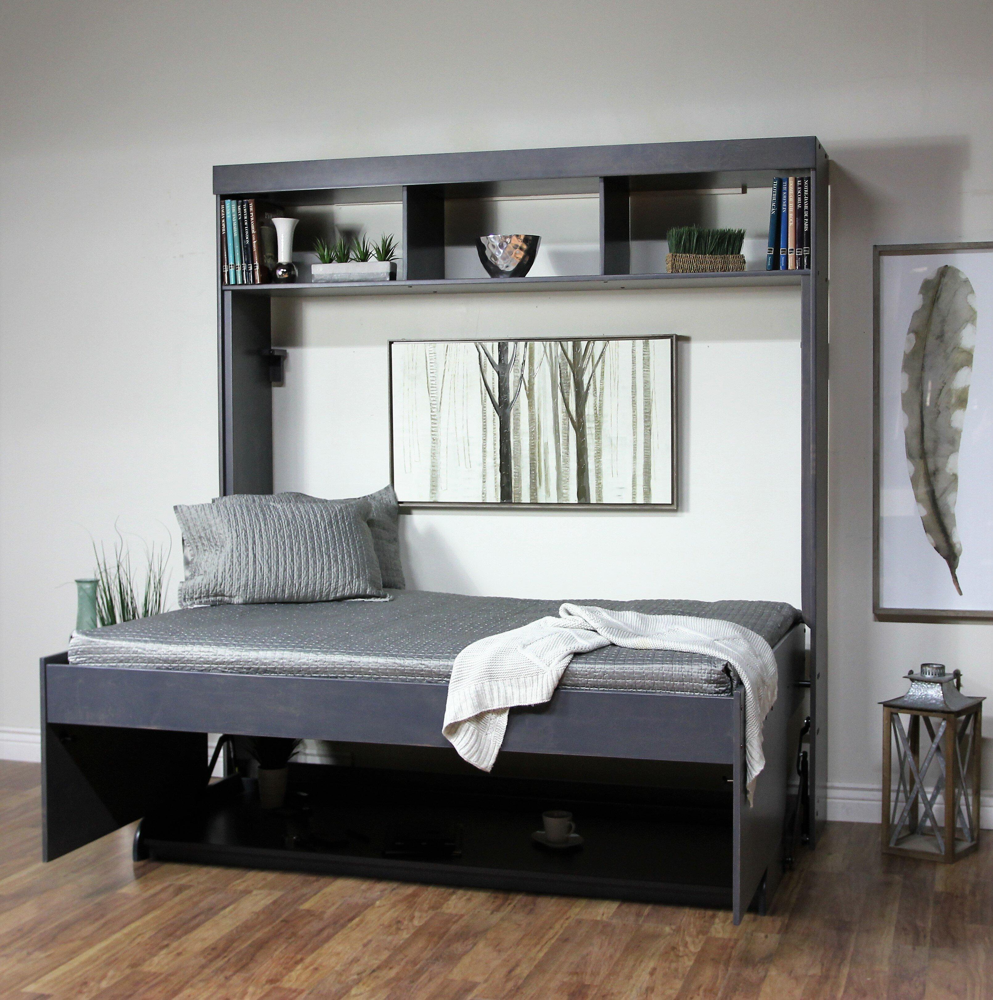 Picture of: Red Barrel Studio Oberle Full Double Murphy Bed Wayfair