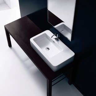 Inexpensive Ego Ceramic 30 Wall Mount Bathroom Sink with Overflow ByWS Bath Collections