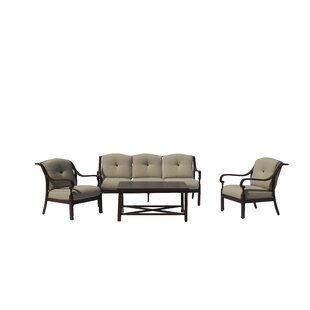 Ariton Outdoor 4 Piece Sofa Seating Group with Cushions