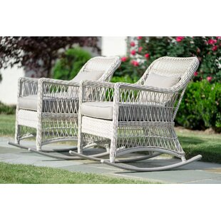 Pair Chretien Outdoor Wicker Rocking Chair (Set of 2)