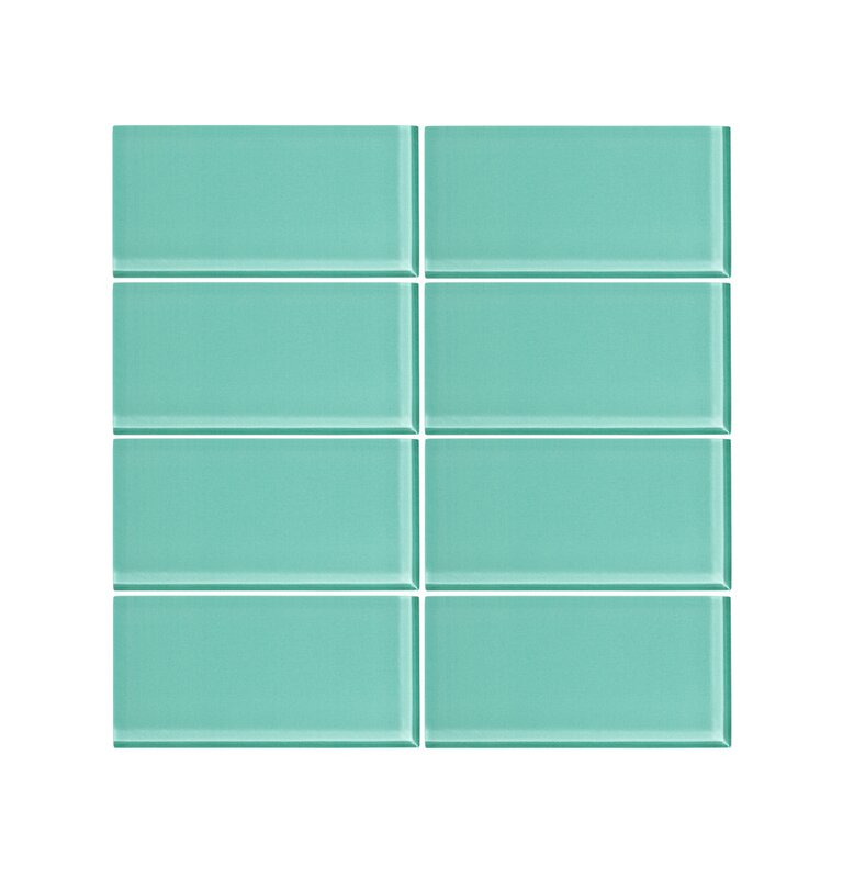 Viccidesign 3 X 6 Glass Subway Tile In Bermuda Blue Wayfair