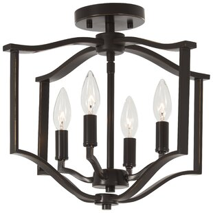 Top Reviews Mauch 4-Light Semi Flush Mount By Gracie Oaks