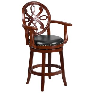 Hawks 26'' Swivel Bar Stool Astoria Grand