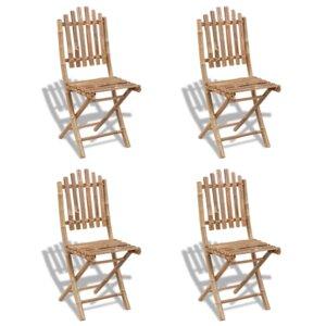 4-tlg. Klappbares Gartenstuhl-Set von dCor design