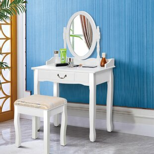 Linger Vanity Set with Mirror by Charlton Home