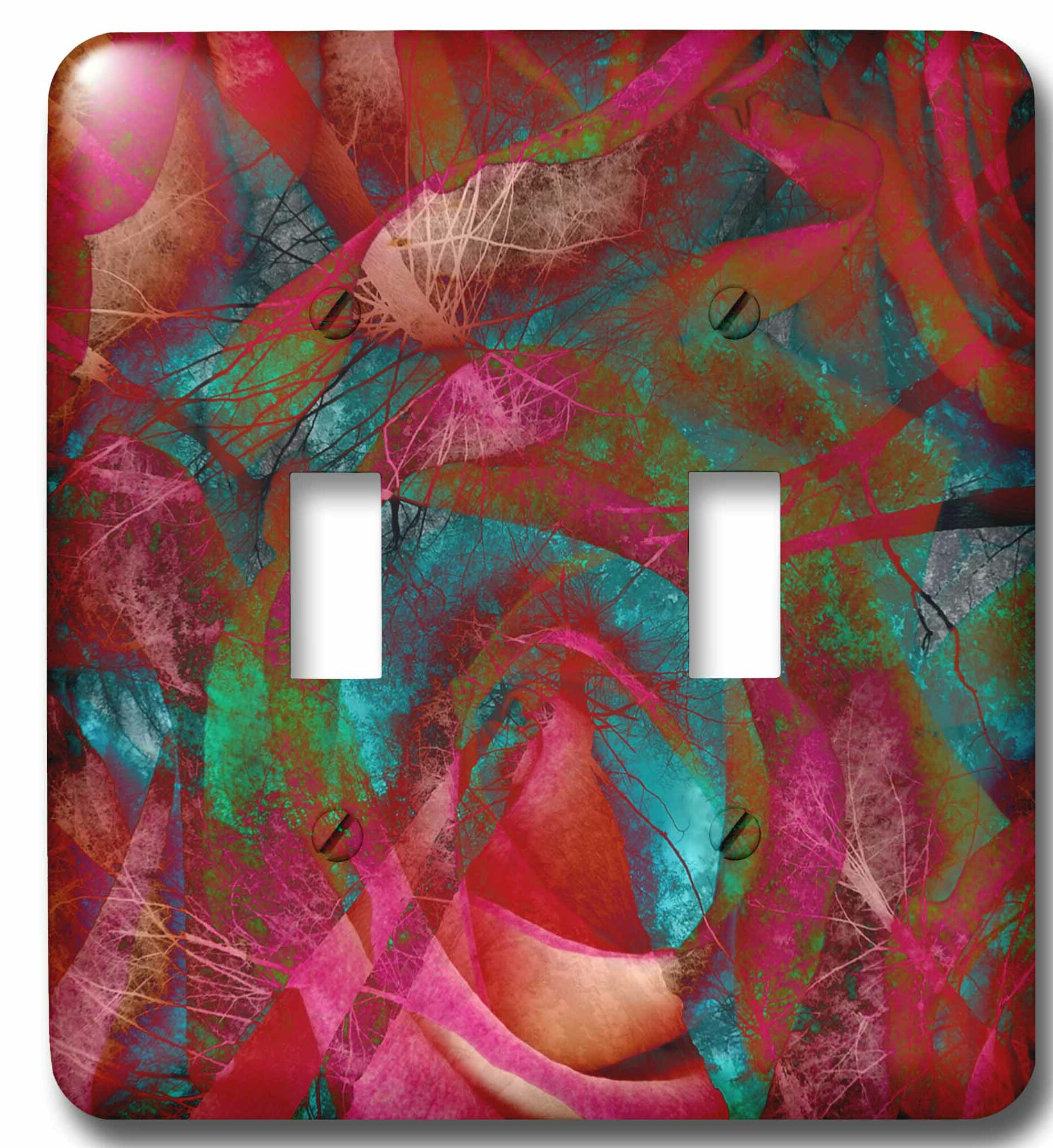 3drose Usa Tall Trees Roses Artistic Abstract 2 Gang Toggle Light Switch Wall Plate Wayfair