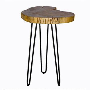 Tindle Live Edge Hairpin End Table by Union Rustic