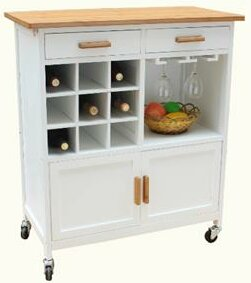 Oaken Kitchen Cart with Butcher Block