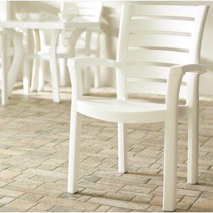 Stacking Patio Dining Chair (Set Of 4) by Symple Stuff Top Reviews