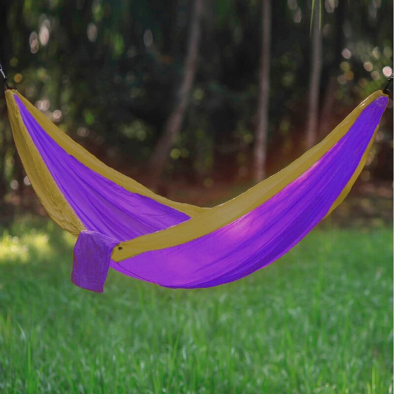 Freeport Park Karley Sports Force Double Camping Hammock  Color: Purple/Camel