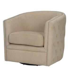 Rosalba Button Tufted Swivel Club Chair by Mercer41
