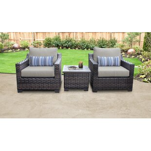 Kathy Ireland Homes U0026 Gardens River Brook 3 Piece Outdoor Wicker Patio  Furniture Set 03a