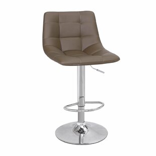 Harbaugh Adjustable Height Swivel Bar Stool (Set of 2) by Ebern Designs