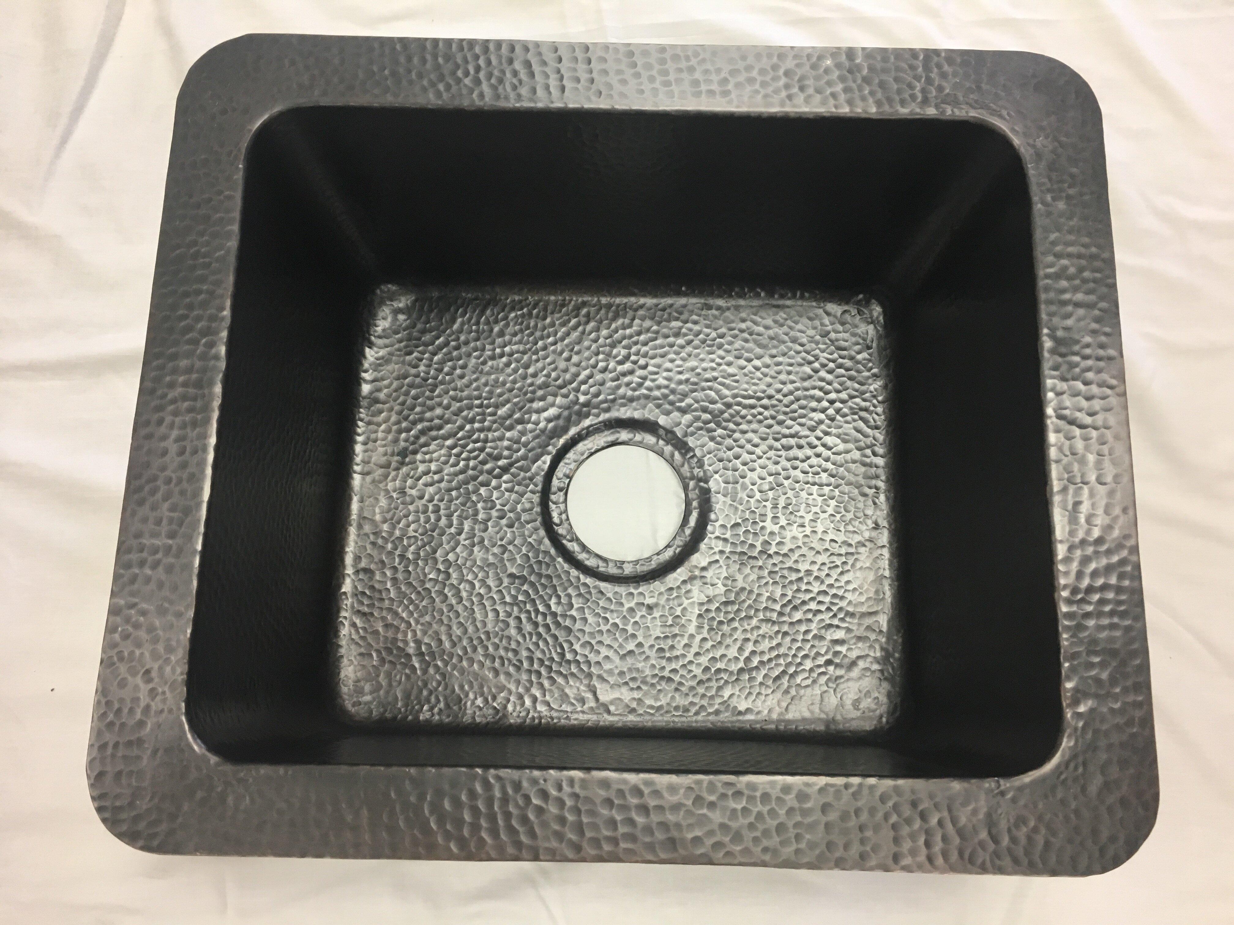 Hammered Copper 21 L X 18 W Drop In Kitchen Sink