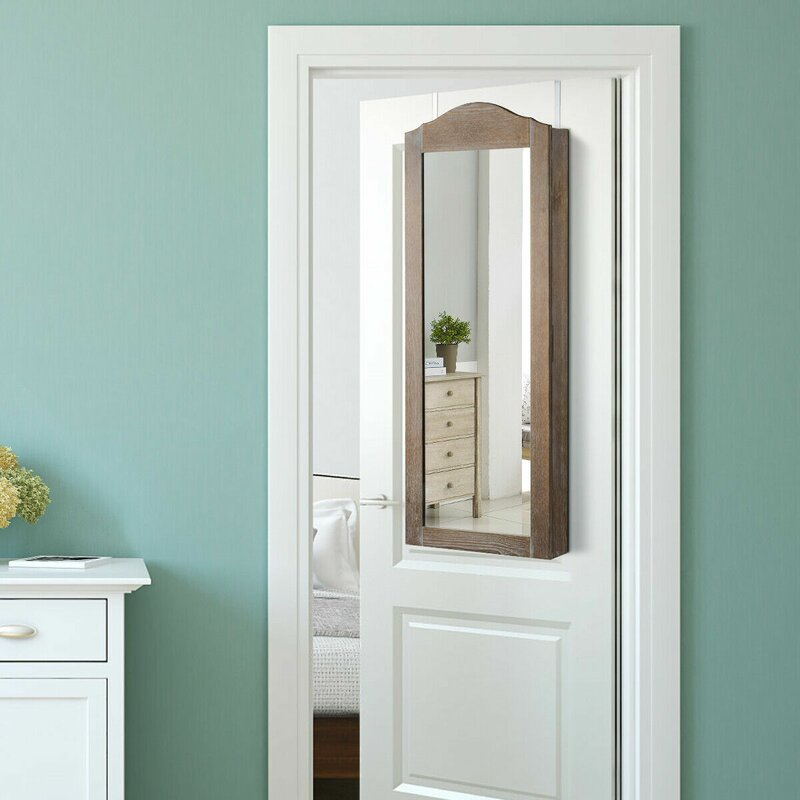 Union Rustic Chaparro Over The Door Jewelry Armoire With Mirror Reviews Wayfair