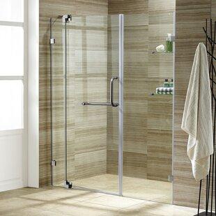 Pirouette 48 inch  x 72 inch  Pivot Frameless Shower Door with Flex-Sizing™ Technology