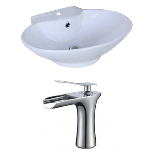 Searching for Ceramic Oval Vessel Bathroom Sink with Faucet and Overflow ByAmerican Imaginations