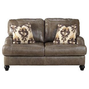 Darby Home Co McDonald Leather Loveseat