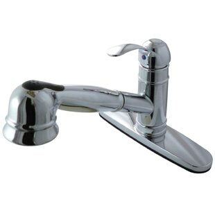 Kingston Brass Pull Out Single Handle Kitchen Faucet with Side Sprayer