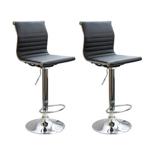 Affordable Price Frisina Adjustable Height Swivel Bar Stool (Set of 2) by Latitude Run Reviews (2019) & Buyer's Guide