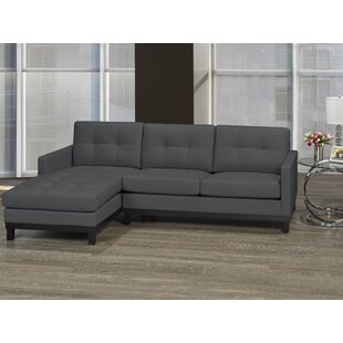 Merrifield Leather Condo Sectional by Latitude Run