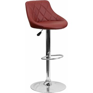 Whelan Low Back Bucket Adjustable Height Swivel Bar Stool Orren Ellis
