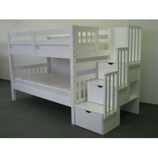 Check Prices Tena Twin Over Twin Bunk Bed with Trundle By Harriet Bee