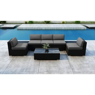 Everly Quinn Glendale 8 Piece Sectional Set with Sunbrella Cushion