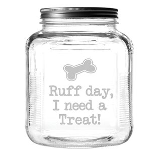 Ruff Day 4 qt. Pet Treat Jar