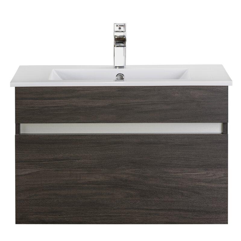 Ivory Floating 30 Single Bathroom Vanity