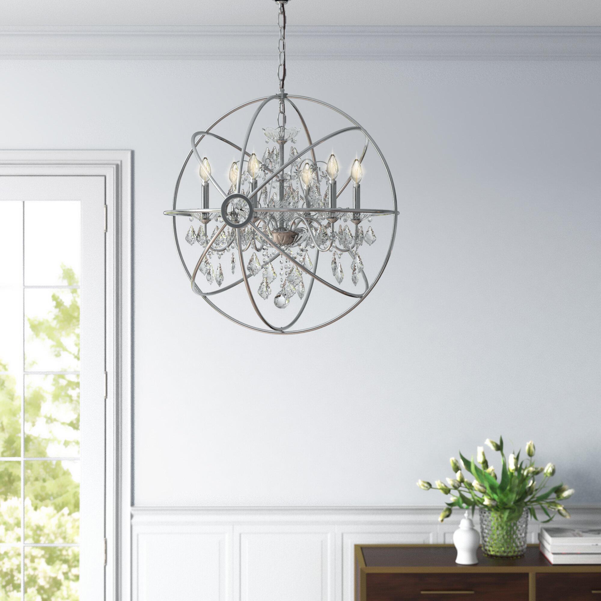 House Of Hampton Clifton 6 Light Candle Style Globe Chandelier Reviews Wayfair Ca