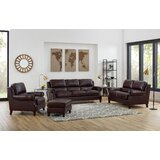Somersby 4 Piece Leather Living Room Set by Charlton Home®