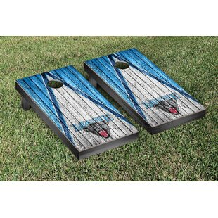 Victory Tailgate NCAA Triangle Weathered Version Cornhole Game Set