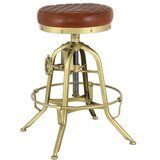 Amora Leather Adjustable Height Bar Stool by Mercer41
