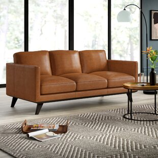 Northwick Leather Sofa by Mercury Row