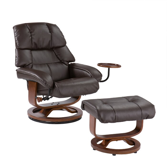 Magnificent Ruppe Manual Swivel Recliner With Ottoman Ibusinesslaw Wood Chair Design Ideas Ibusinesslaworg