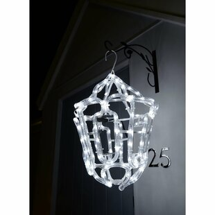 Christmas Hanging Lantern Outdoor Garden Wall LED 24 Rope Lighted Display Image