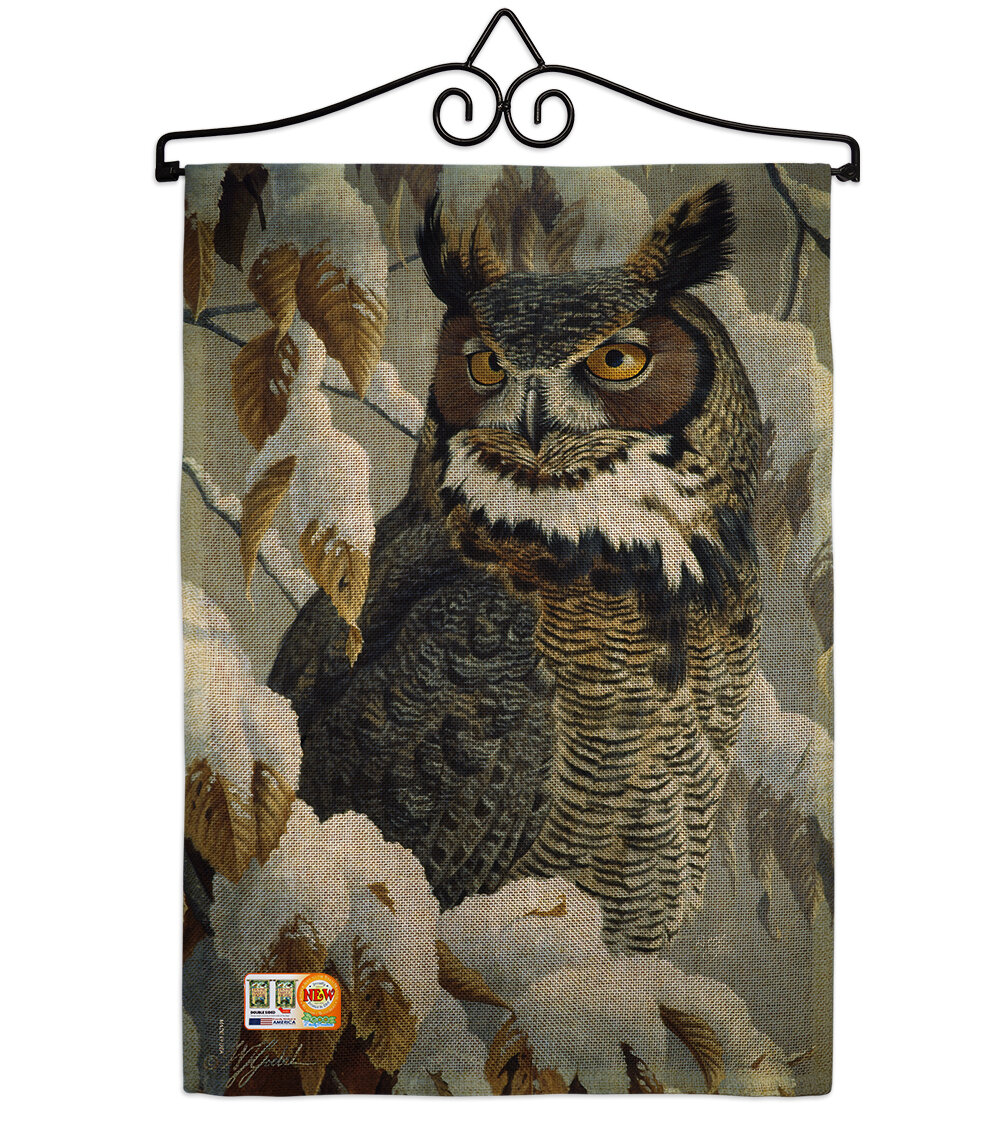 Breeze Decor Great Horned Owl 2 Sided Polyester 19 X 13 In Garden Flag Wayfair