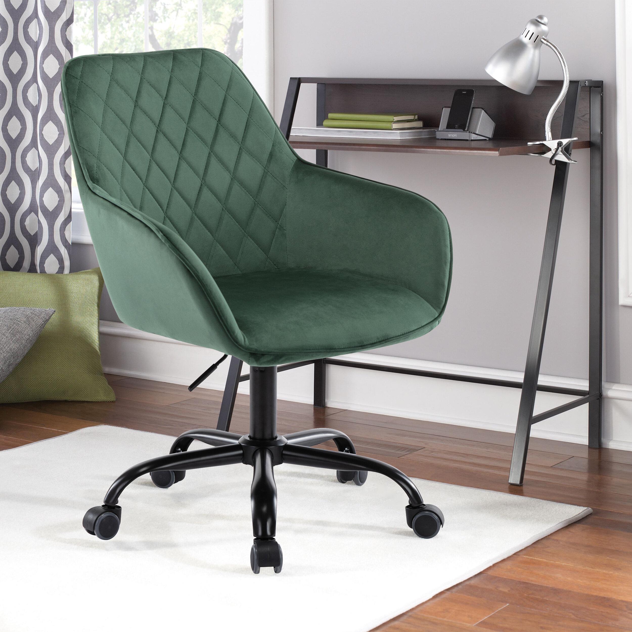Everly Quinn Brenton Painting Plate Velvet Task Chair Reviews Wayfair