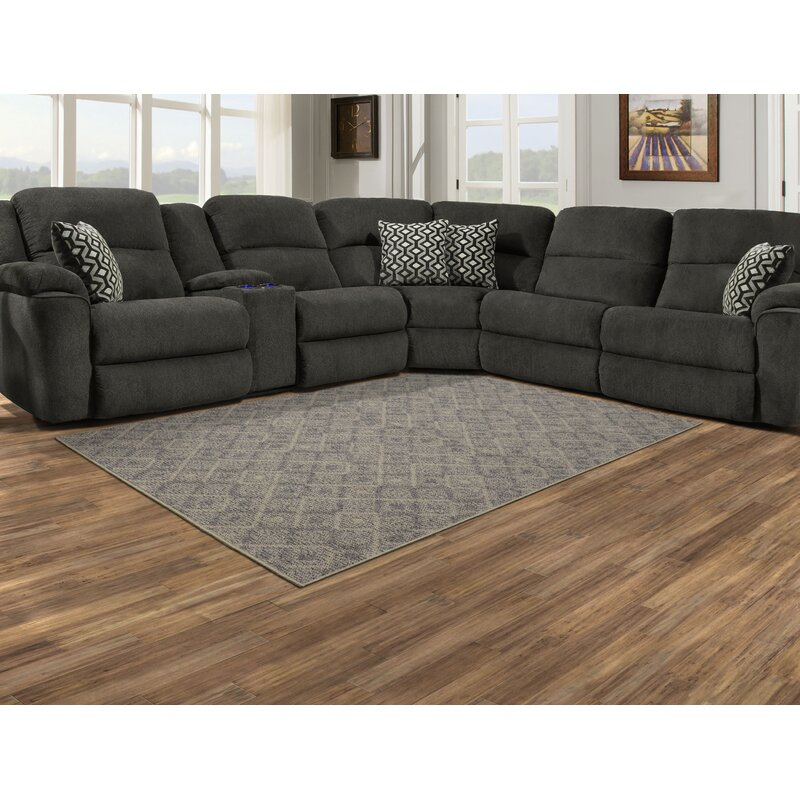 Winston Porter Byrum Abstract Tufted Gray Area Rug Reviews Wayfair