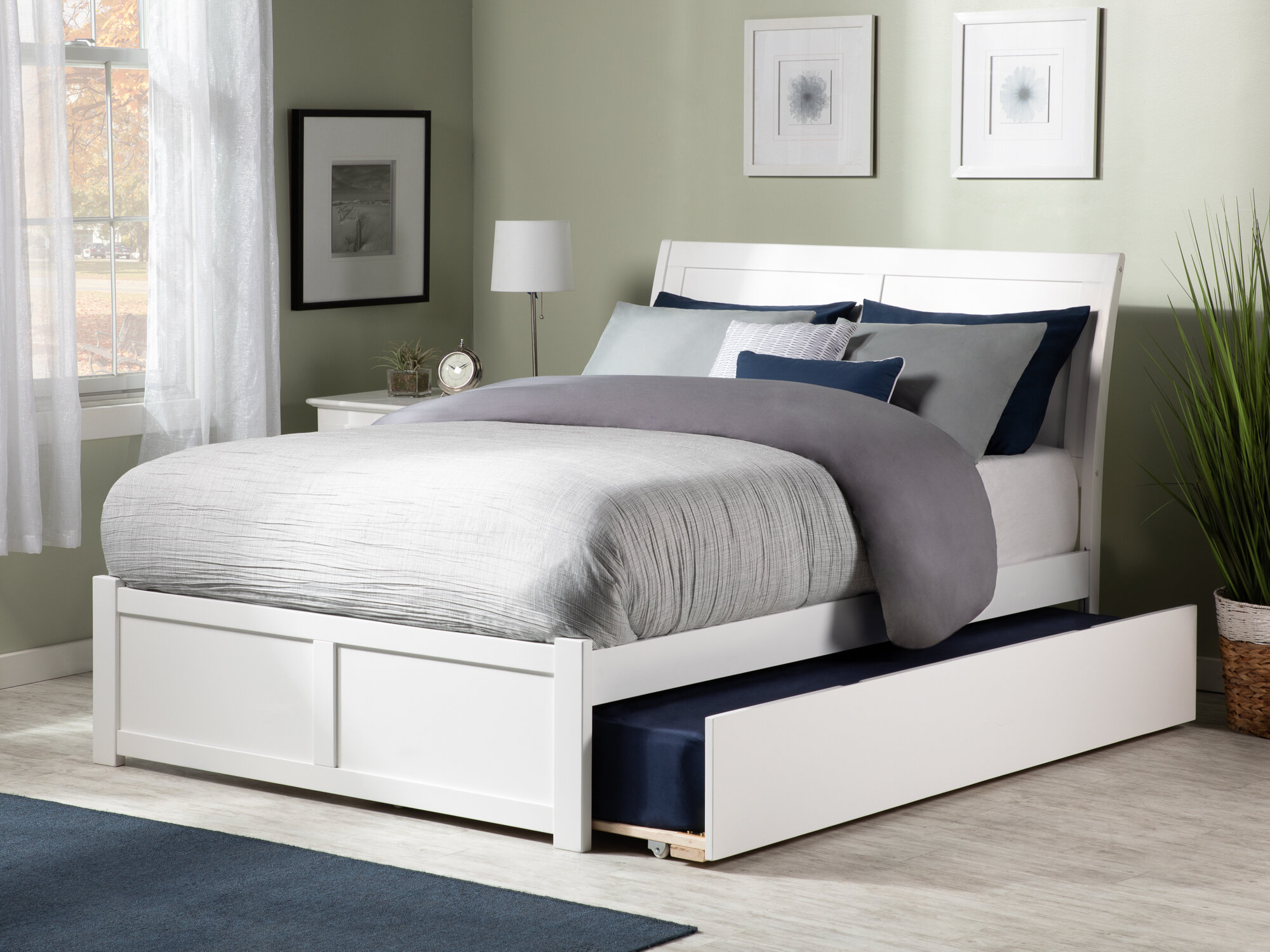 Viv Rae Wasilewski Sleigh Bed With Trundle Reviews Wayfair Ca