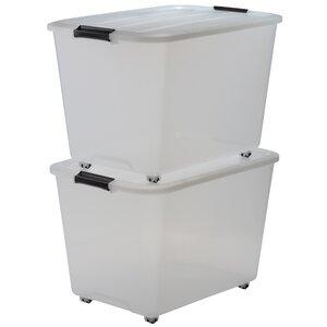 2-tlg. Aufbewahrungsbox Roller aus Kunststoff vo..