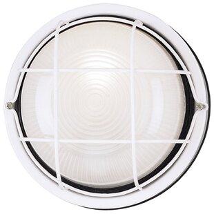 Symple Stuff Seiling Exterior 1-Light Outdoor Bulkhead Light
