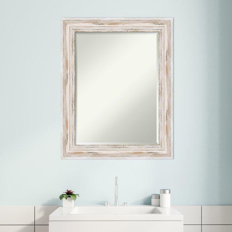 Highland Dunes Beachy Beveled Distressed Bathroom Vanity Mirror Reviews Wayfair