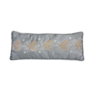 Cheraw Pine Cone Christmas Lumbar Pillow by Loon Peak 2019 Coupon